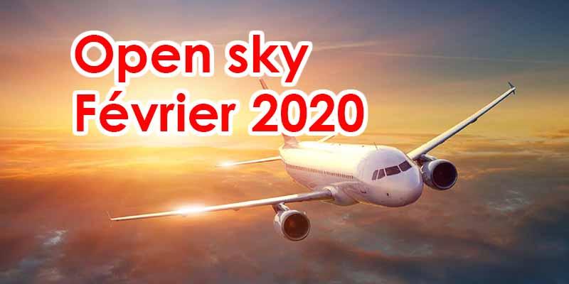 L'Open Sky serait pour février 2020