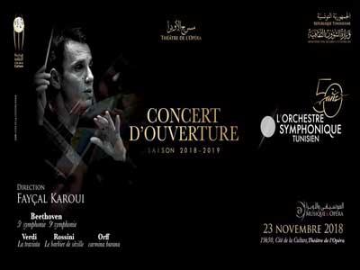 Le Concert d'Ouverture de l'Orchestre symphonique Tunisien au Théâtre de l'Opéra