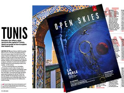 Le magazine Open Skies de Emirates dédie 2 pages à la Tunisie