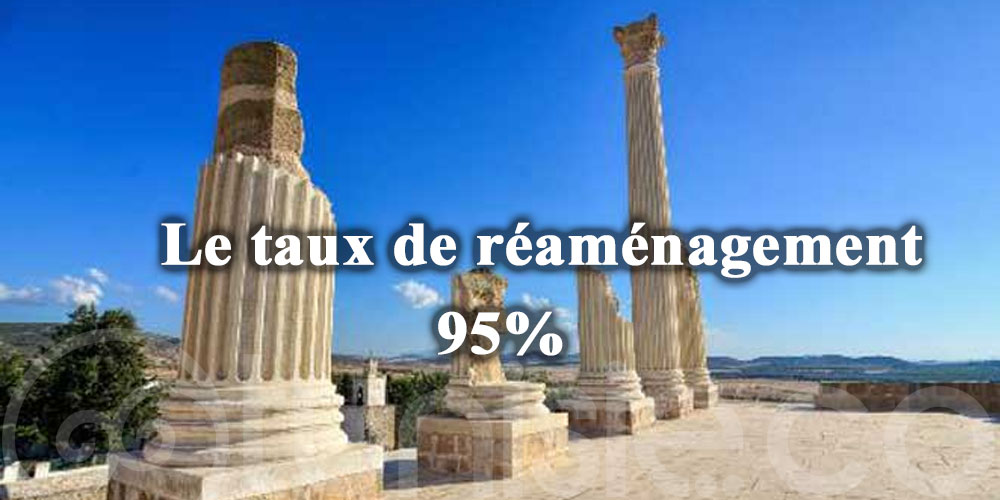 Le taux de réaménagement du site archéologique d'Oudhna atteint les 95%
