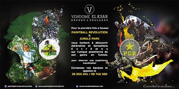 Paintball Revolution et Jungle Parc à Sousse, votre dose de fun assurée