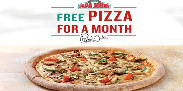 Un mois de pizzas gratuites pour les gagnants du jeu d'ouverture de Papa John´s