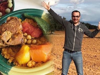 Olivier Moulin du blog 'Papa en Cuisine' à la découverte de la cuisine sfaxienne