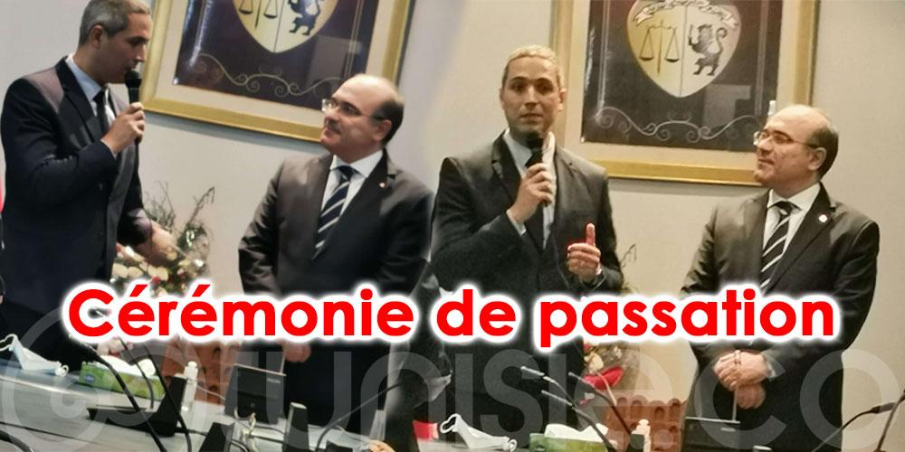 Cérémonie de passation entre Habib Ammar et Mohamed Moez Belhassine