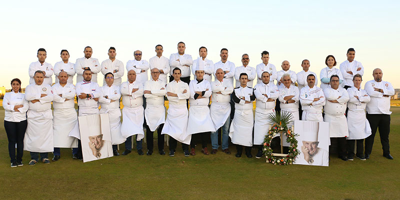 Photo des Chefs Tunisiens en Hommage à Paul Bocuse