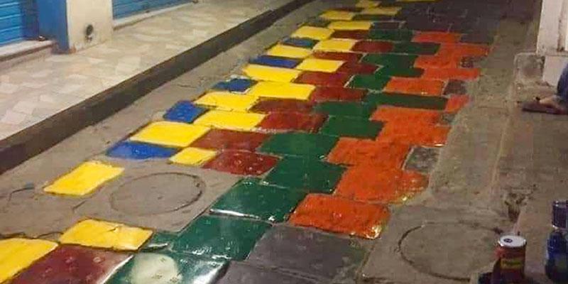 L'ASM lance une alerte contre la peinture sur les pavés de la Médina