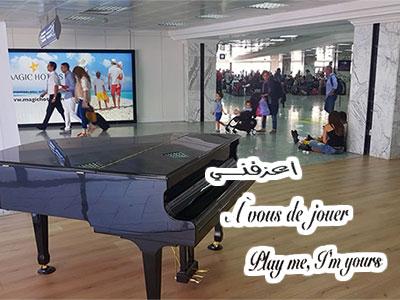 En vidéo : Un piano en libre service installé à l'aéroport de Tunis Carthage