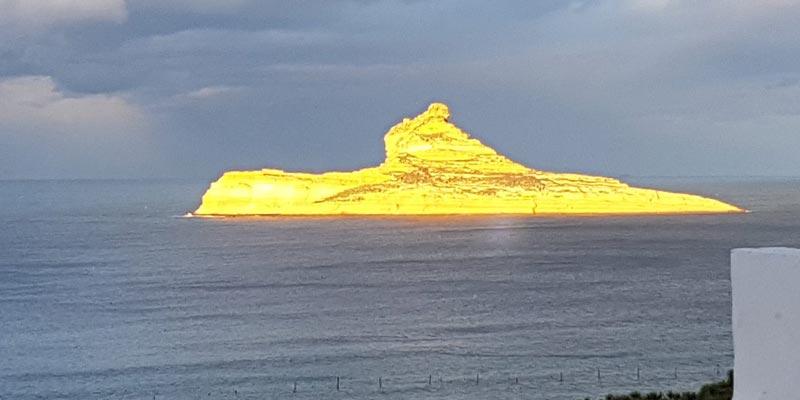 Photo du jour : L'île de Pilau se pare d'une couleur dorée fascinante