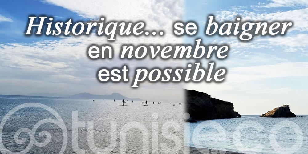 Tunisie, un pays où se baigner en novembre est toujours possible