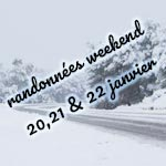 Les bons plans randonnées pour le weekend des 20, 21 et 22 Janvier