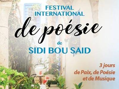Découvrez le programme détaillé du Festival International de Poésie de Sidi Bou Saïd 2018