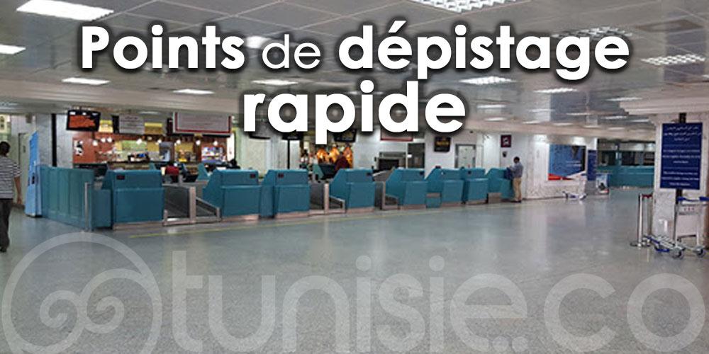 Des points de dépistage rapide dans trois aéroports en Tunisie