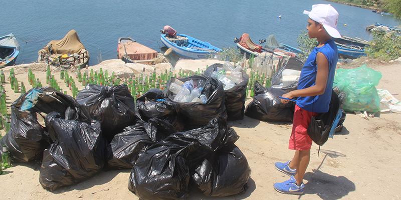 Carthage : Tunisie Recyclage collecte des quantités énormes de déchets