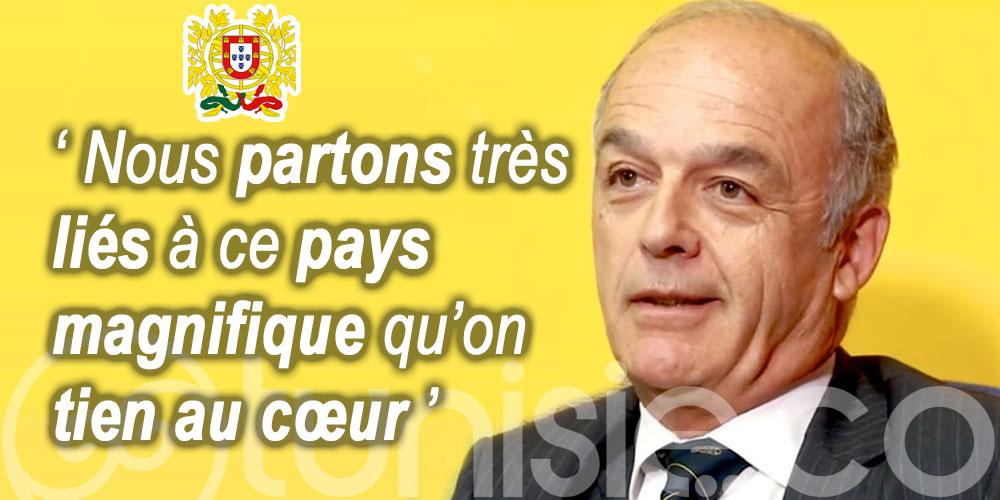 Le message d'au revoir de José Frederico Ludovice Ambassadeur du Portugal en Tunisie
