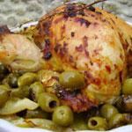 Poulet au citron et aux olives