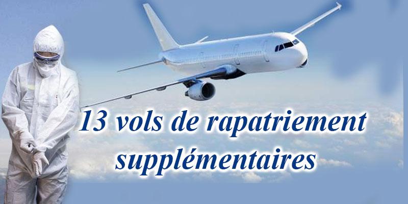 Mise à jour du programme de rapatriement: 13 vols supplémentaires