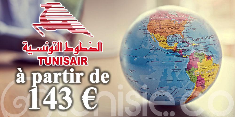 Nouvelle promo Tunisair: 13 destinations à partir de 143 € en TTC !