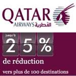 Qatar Airways : 25% de réduction sur les réservations du 17 au 19 avril 2012