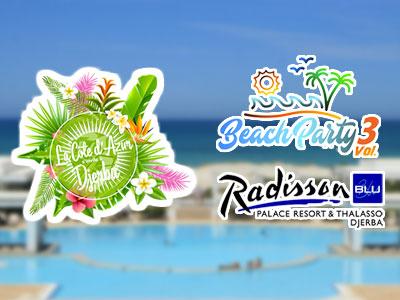 Ce Week-end, la Côte d'Azur s'invite à Djerba pour la Beach Party vol.3 by Radisson Blu
