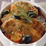 Ragoût d'agneau aux olives