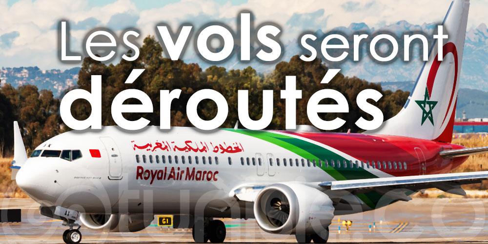 Les vols de la RAM vers Tunis seront déroutés au-dessus de la Méditerranée