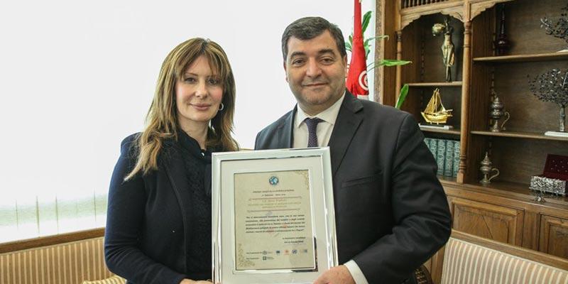 René Trabelsi, médaillé meilleur ministre du tourisme sur la méditerranée