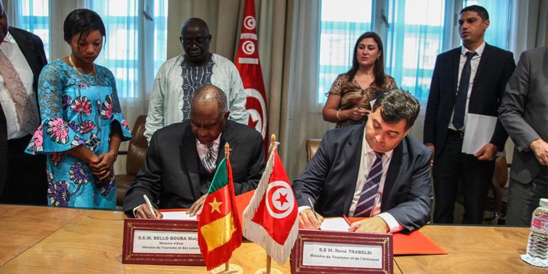 التوقيع على محضر أشغال اللجنة المشتركة التونسية الكامرونية للسياحة