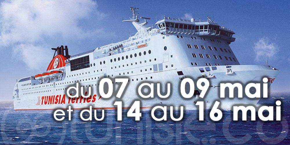 CTN : Report des traversées Tunis-Gênes-Tunis