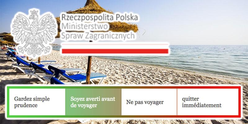 Le ministère des Affaires étrangères Polonais lève l'interdiction de voyages vers la Tunisie