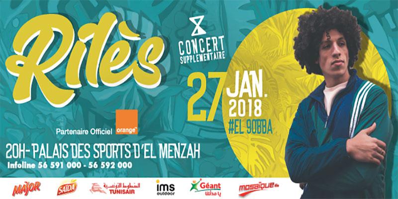 Rilès en concert ce 27 janvier 2018 à 'El Kobba'