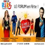 Forum Rires et Chansons du 12 au 20 Février à l'espace 'Le Forum'