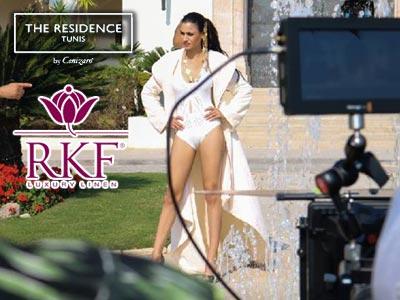 RKF le leader du linge pour hôtel de luxe tourne un spot au Residence Tunis