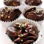 Recette au chocolat : Roses des sables aux céréales