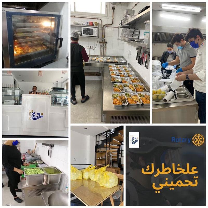 Les Rotary Clubs se mobilisent en Tunisie: 300 plats par jour