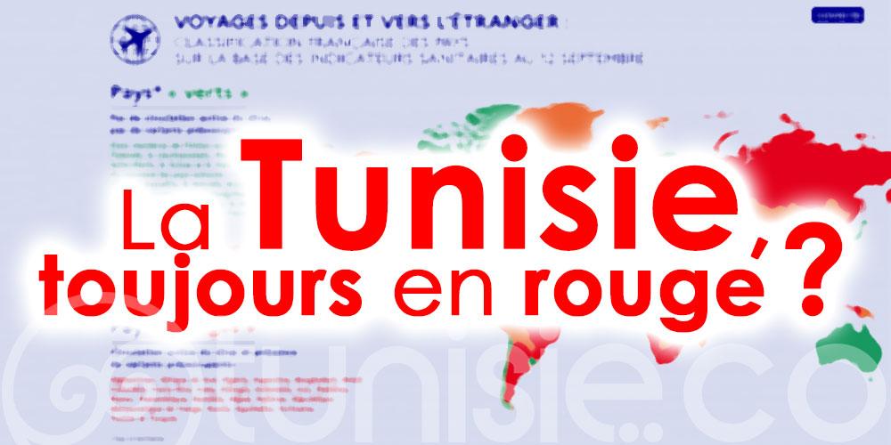 Mise à jour du classement français des pays par couleur : La Tunisie, toujours en rouge ?