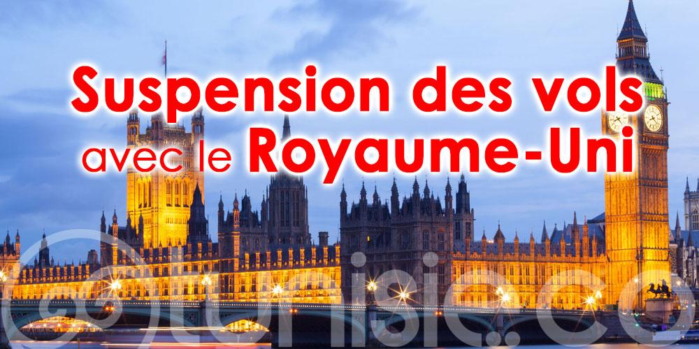 La Tunisie suspend ses liaisons aériennes avec le Royaume Uni