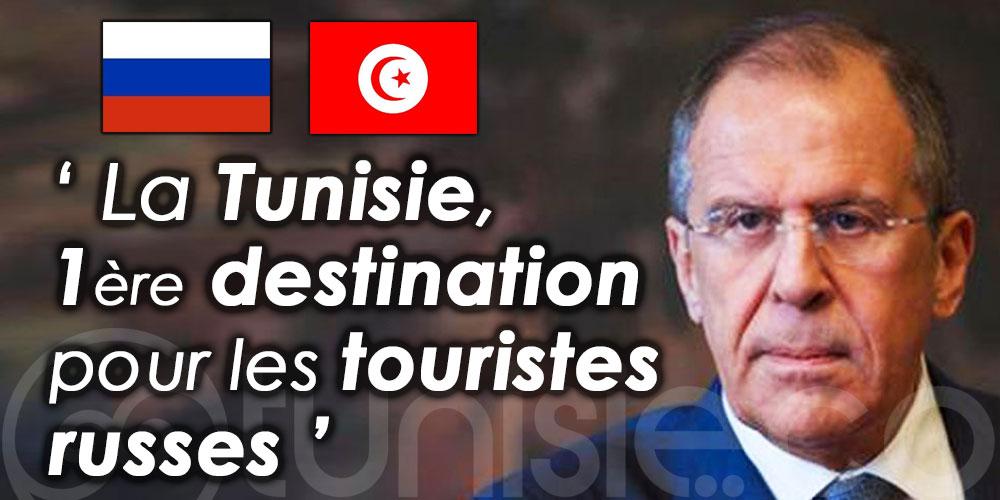 Sergueï Lavrov: La Tunisie, première destination pour les touristes russes