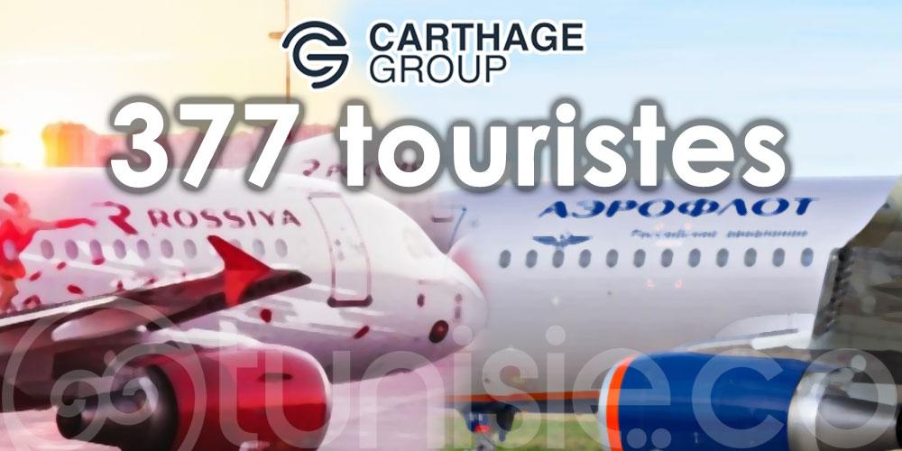 377 touristes russes débarquent dans 2 vols charters