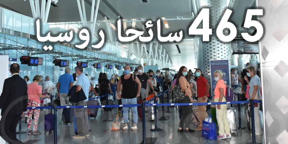 في اليوم العالمي للسياحة: مطار النفيضة الحمامات الدولي يستقبل 465 سائحا روسيا