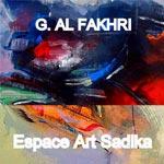 Expo 'La couleur a un parfum et une patrie' de l'artiste libyen G.Fakhri chez Sadika