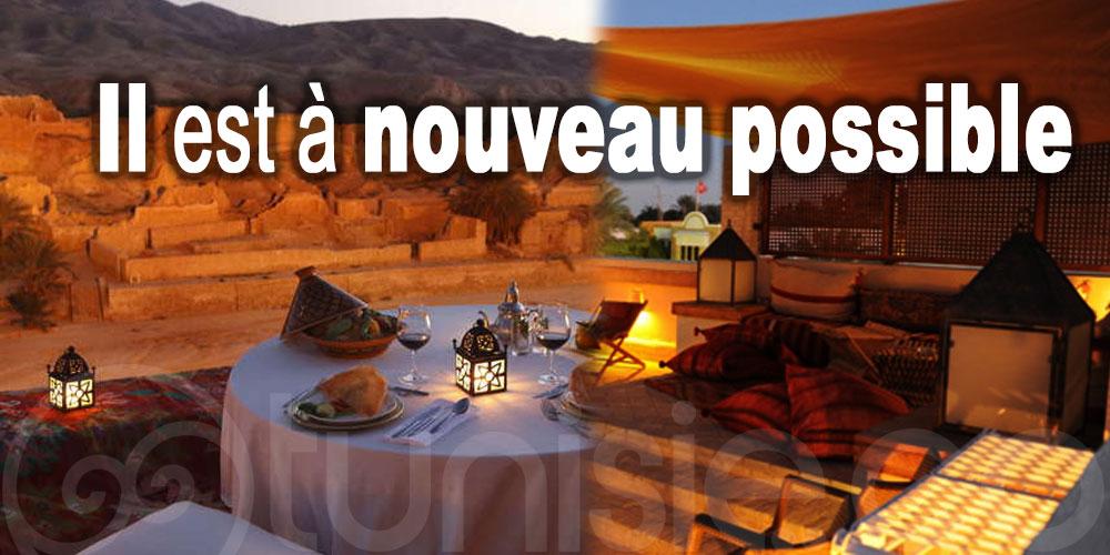 Il est à nouveau possible de séjourner au sud tunisien