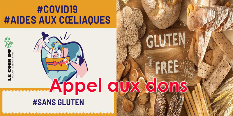 Le Coin Du Bio: Appel aux dons aux coins des produits sans gluten