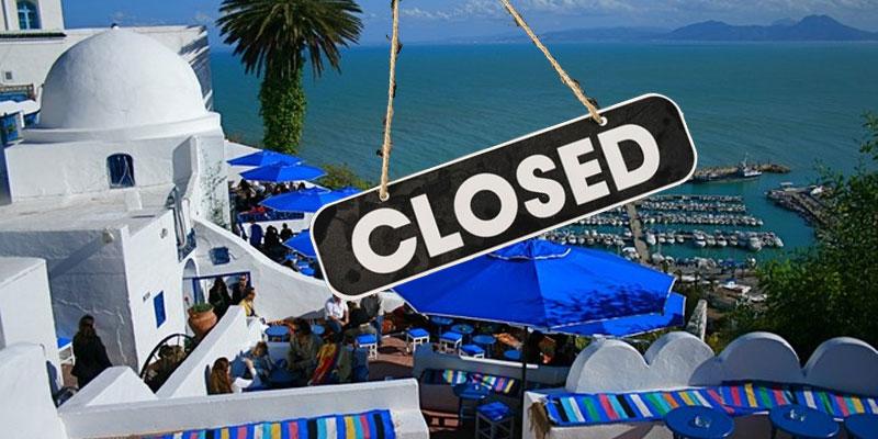 Fermeture de tous les cafés et restaurants à Sidi Bou Said