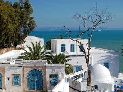 Le petit paradis blanc, bleu, Tunisie en photos