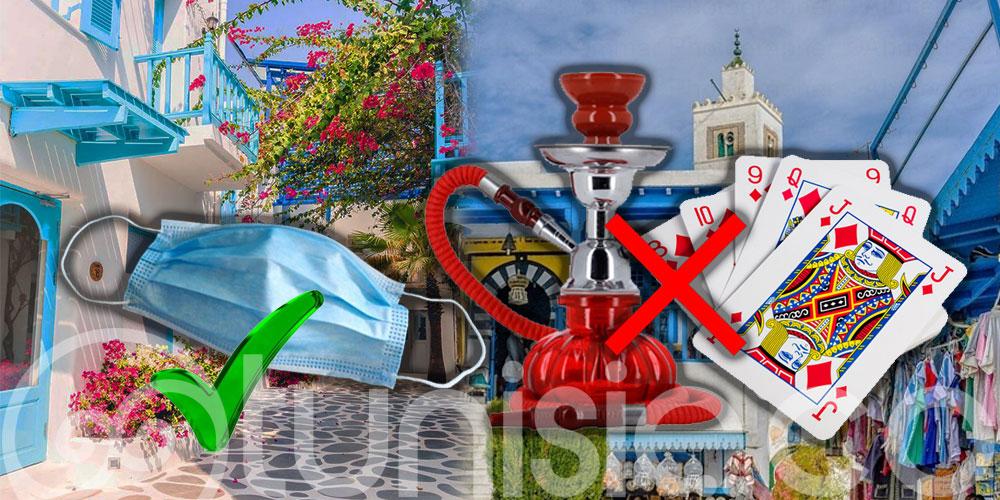 Interdiction de la Chicha et obligation du port du masque à Sidi Bou Said