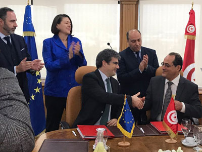 Signature d'un accord en vue de l'Open Sky entre la Tunisie et l'UE