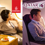Emirates meilleure compagnie, Qatar Airways meilleure Business Class