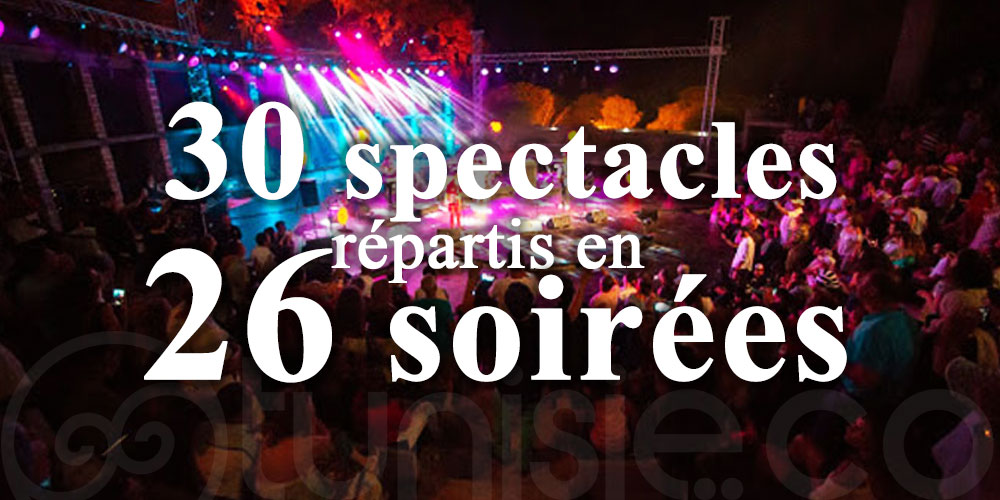 Manifestation « Les Soirées de Hammamet » : 30 spectacles répartis en 26 soirées