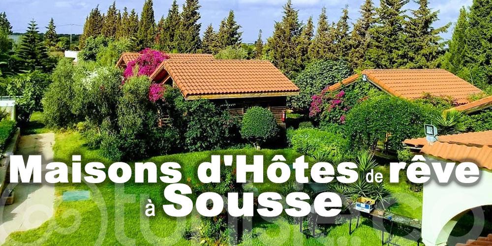 Maisons d'Hôtes de rêve à Sousse, où s'évader sereinement