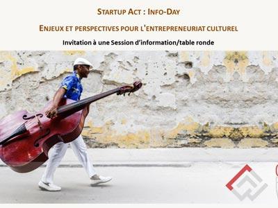 Startup Act : Info-Day pour l'entrepreneuriat culturel le 18 mai à l'Espace Culturel Mass'Art